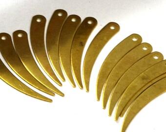 100 Pcs Raw Brass 32x5mm spike shape Charms ,Findings 285R-44
