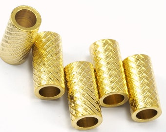 Gold Plated brass tube 6 x 12 mm (hole 4 mm) brass charms, findings spacer bead bab4 ttt612