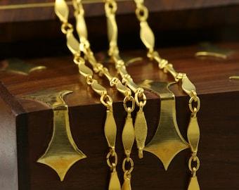 1 mt 3,3 feet 16x3 mm gold plated Brass link Chain 867