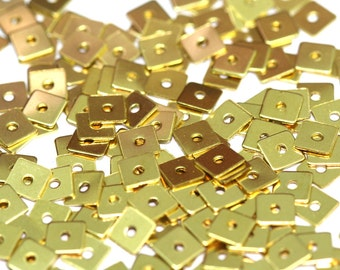 brass square tag midle hole 300 pcs 5 mm raw brass connector charms ,raw brass findings 388RM-29 tmlp