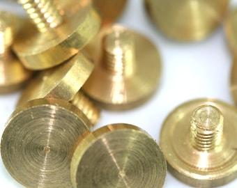 """5 Pcs Raw Brass 1/8"""" bolt 9 x 6 mm ( thread 3 x 4 mm )"""