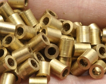 50 Pcs raw brass tube 4 x 4.5 mm (hole 2 mm) industrial raw brass,raw brass pendant,findings spacer bead bab2T0001