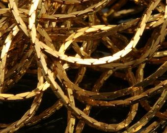 flat snake mesh chain 10 meter 33 feet 1.5 mm tiny soldered raw brass
