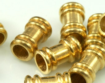 15 pcs raw brass cylinder 10x6 mm (hole 3,9 mm) industrial brass charms, pendant, findings spacer bead bab3.9 1525