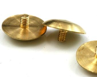 """4 PCS Raw Brass 1/8"""" bolt 16 mm head 3 x 7,5 mm"""