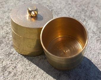 Raw brass ribbon end, 2 pcs 20 X 18 mm 17 mm inner with loop raw brass cord  tip ends, raw brass ends cap, findings ENC17