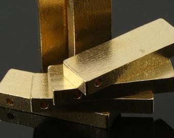 """3 pcs D34 Raw Brass  stamping 10 x 25 x 4 mm 0,39"""" x 1"""" x 0,16""""  1720"""
