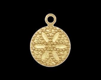 100 pcs 10 mm raw brass circle,raw brass charms ,raw brass findings 133R-33