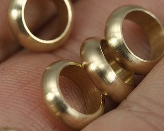 raw brass ring 30 pcs 9.8 x 3 mm (hole 7 mm ) industrial brass charms, Findings spacer bead bab7R 1558