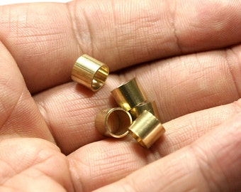 Raw brass tube 20 pcs 7 x 6 mm (hole 6 mm ) industrial brass Charms,Pendant,Findings spacer bead 1615R