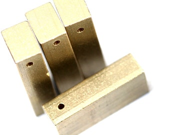 3 pcs D130 Raw Brass  stamping 8 x 12 x 30 mm finding rod 1768