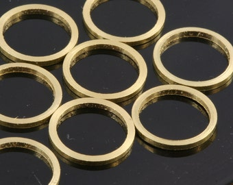 30 pcs Raw Brass Ring 8 mm (hole 7 mm) 1678 bab7