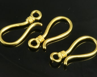 2 pcs 25 mm gold plated s brass hook clasp 446