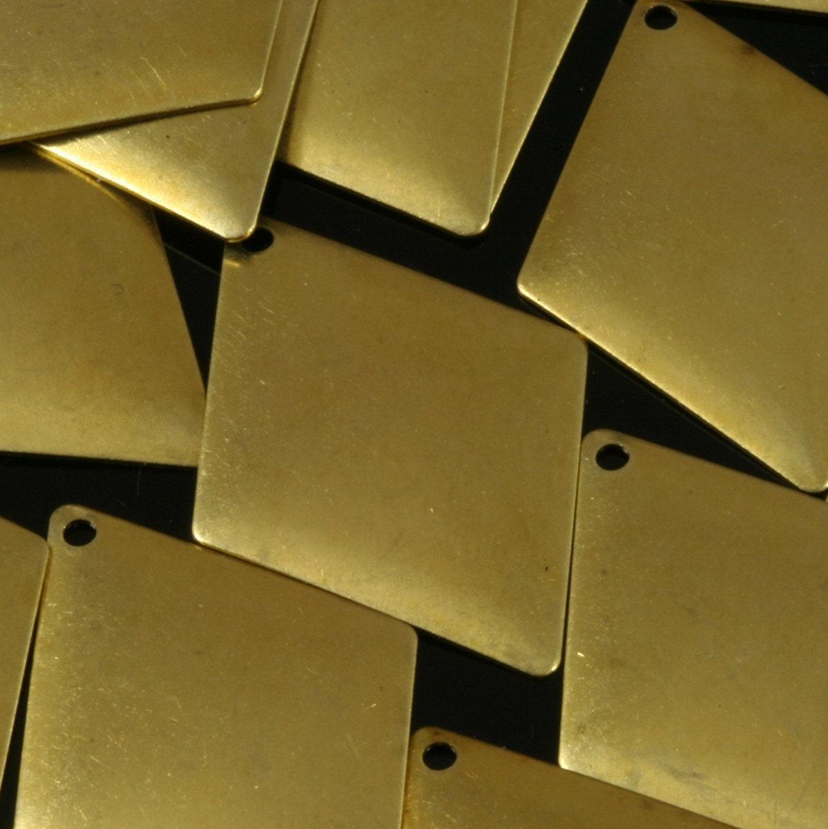 200 pièces en 33 laiton brut 25 x 33 en mm quadrilatère équilatéral forme charmes 1 boucle breloques, pendentifs, résultats 23R-300 af6f53