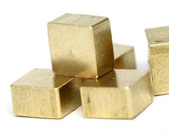 """25 pcs Raw Brass square 4 x 3 mm 5/32"""" x 1/8""""  finding square industrial design 1277R"""