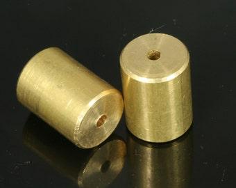 2 pcs 20 x 15 mm (hole 3 mm) raw brass cylinder industrial brass  bab3