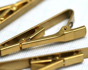 55 mm raw brass tie clip, brass tie pin 808