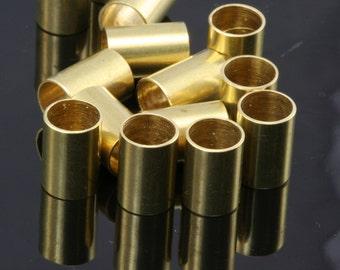 Raw Brass Tube 10 Pcs  7x10mm (hole 6mm ) industrial brass 1655