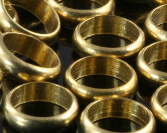 Raw Brass Ring 9.8x2,3mm (hole 8 mm ) industrial brass Charms,Pendant,Findings spacer bead bab8Ri102 1559
