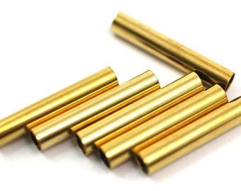 35 Pcs Raw Brass Tube 22 x 4 mm (hole 3.4 mm)  E224Y35 1743