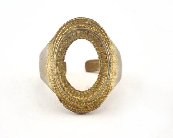 Ring Adjustable Ring Bezel Raw brass 18mm 7.5US inner size - Adjustable OZ2851