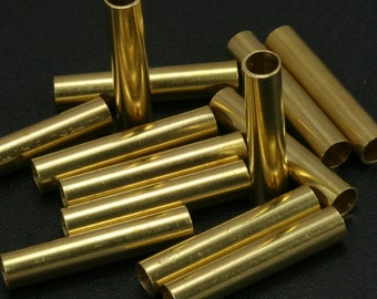 Raw brass tube, 10 pcs 30 x 6 mm (hole 5 mm ) raw brass industrial, raw brass charms, spacer bead ttt630
