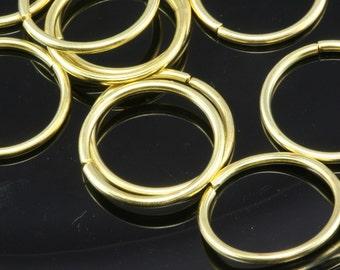 Open jump ring 20 mm 15 gauge( 1,5 mm ) 50 pcs  raw brass jumpring 2015JR-44 1185R