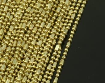 1 mm 18 gauge Raw Brass Ball Chain
