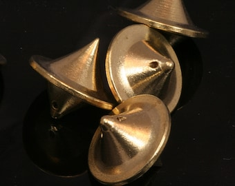 "2 pcs raw brass ufo shape 18x19,5 mm industrial design (1,5 mm 1/16"" 15 gauge hole ) pendulum 1040S"
