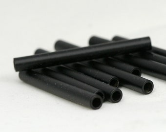 10 pcs black painted brass tube 4x40mm (hole 3mm 9 gauge) industrial findings spacer bead 1474