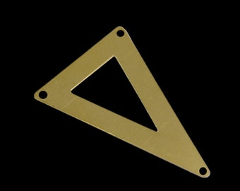 20 pcs 50x33 mm raw brass triangle tag 3 hole connector raw brass charms ,raw brass findings 795RT-54