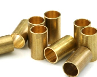 Raw Brass Tube 10 Pcs 7x12mm (hole 5,5mm ) industrial brass Charms,Pendant,Findings spacer bead 1444