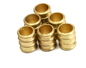Raw brass tube 20 Pcs Raw Brass 10 x 8 mm (hole 6 mm) industrial brass Charms,Pendant,Findings spacer bead bab6 1229R
