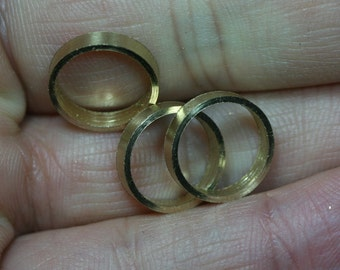 raw brass ring 30 pcs 12.5 x 2.5 mm (hole 10.5 mm) industrial brass Charms,Pendant,Findings spacer bead bab10 1430