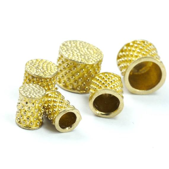 ends cap ribbon end 10x12mm 11mm inner raw brass cord  tip ends oz3082 enc11