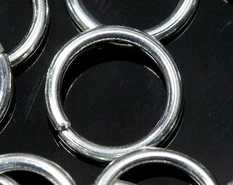 Open jump ring 22 mm 15 gauge( 1,5 mm ) 50 pcs  silver plated brass jumpring 2215JS-47