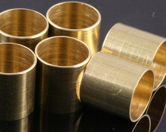 Raw Brass tube 10 Pcs 12 x 12 mm (hole 11 mm) bab11 1727