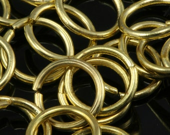 Open jump ring 500 pcs 12 mm 17 gauge( 1,2 mm ) raw brass (varnish)  jumpring 1217JV-170 1174V