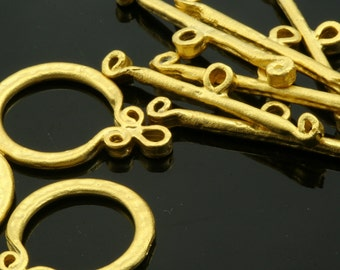 toggle clasps ,3 sets gold plated alloy 18 mm findings 128