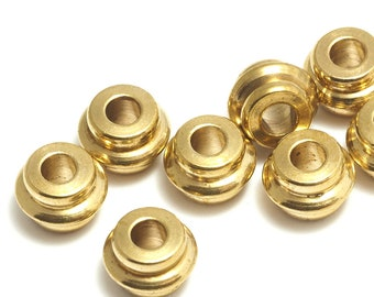 raw brass spacer bead 5,6x7,8 mm (hole 3 mm) bab3 1527