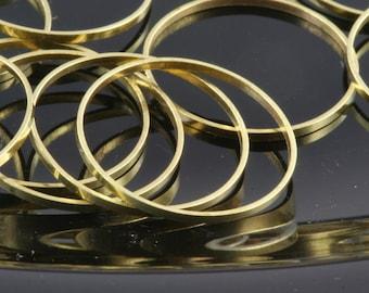 100 pcs Raw Brass Ring 18 mm (hole 17 mm)  bab17-20 1676