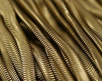"Raw Brass Snake Chain 1 mt 3,3 feet 4 mm 3/16"" inch"
