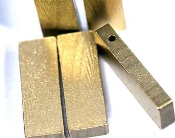 """20 pcs D245 Raw Brass  stamping 10 x 30 x 4 mm 0,39"""" x ,18"""" x 0,16""""  1722"""