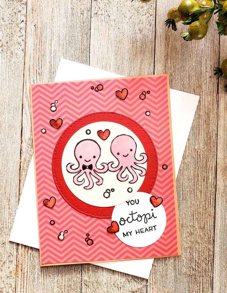 Cute and Funny Word Pun Anniversary card You Octopi My Heart Birthday Love You You/'re the Best Card.
