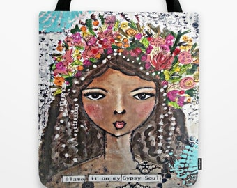Tote bag: Inspirational Art tote bag.