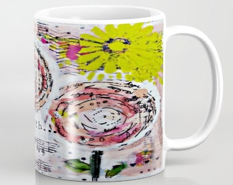 Mixed Media Mug. One of a kind original art