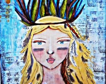 Original Art by Croppin' Spree: Wild Child.