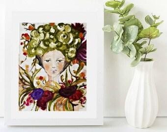 Art Giclee Print, Original Art by Ulyth: Bloom