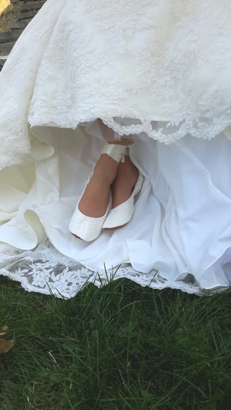 6bd03f14e6a1be Flat Lace Ballet Style Wedding Shoe Lace Ballet Style Bridal