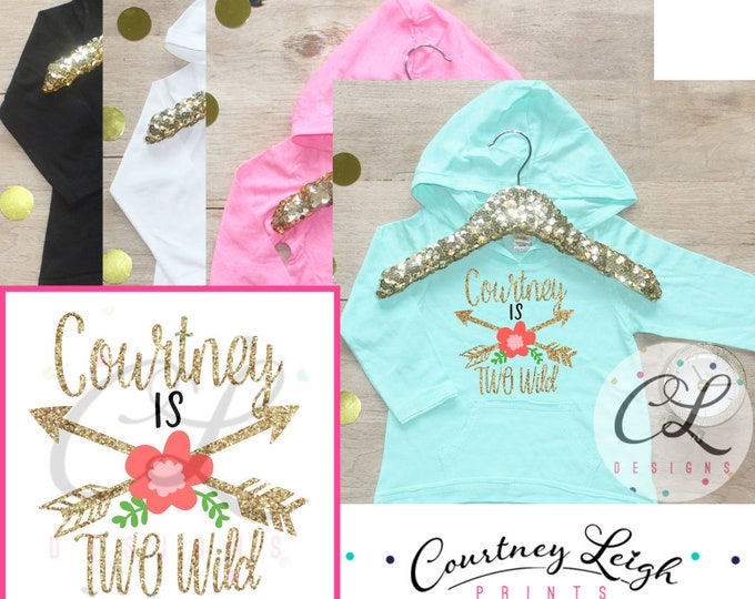 Two Wild Birthday Girl Shirt / Baby Girl Clothes 2 Year Old Outfit Second Birthday Shirt 2nd Birthday Girl Outfit Hoodie Birthday Party 277